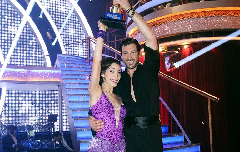 Maksim Chmerkovskiy Meryl Davis Declare We Re Not: Meryl Davis & Maksim Chmerkovskiy Win Dancing With The Stars
